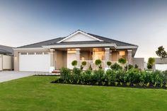 The North Hampton - Display Homes Perth - Plunkett Homes Hamptons Style Homes, Hamptons House, The Hamptons, Space Architecture, Architecture Details, One Floor House Plans, Decor Home Living Room, Room Decor, North Hampton