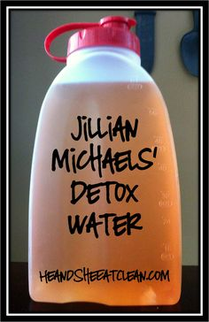 Jillian Michaels' detox water, cranberry juice,, weight loss