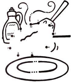 Actividades para niños preescolar, primaria e inicial. Fichas para niños para imprimir con dibujos para unir los puntos numerados para niños de preescolar y primaria. Unir puntos numerados. 22