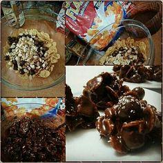 #çikolatalı #yemişli #kıtır  #tavsiyeediyorum 👍😊 #enfess #pratik #atıştırmalık ***buzdolabında en fazla iki saat dondurmanız yeterli ***