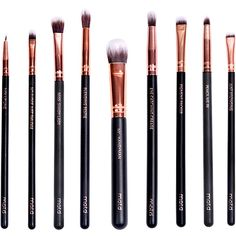 M.O.T.D. Cosmetics Lux Vegan Eye Makeup Brush Set (€57) ❤ liked on Polyvore featuring beauty products, makeup, makeup tools, makeup brushes, beauty, fillers and cosmetics