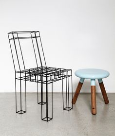 """""""Sketched Chair"""" and """"Spun Stool"""" by LifeSpaceJourney, Melbourne"""