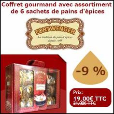 #missbonreduction; Remise de 9% sur le Coffret gourmand avec assortiment de 6 sachets de pains d'épices chez Fortwenger. 	http://www.miss-bon-reduction.fr//details-bon-reduction-Fortwenger-i852818-c1838222.html