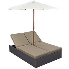 Modway Convene Wicker Outdoor Double Chaise Lounge - Outdoor Chaise Lounges at Hayneedle