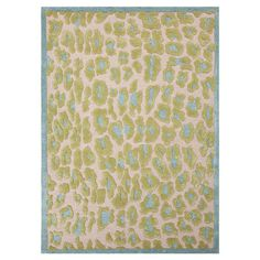 Wool and art silk-blend rug with a raised green animal print motif.    Product: RugConstruction Material: Wool an...