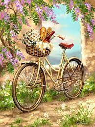 Resultado de imagen para dibujo de bici con flores
