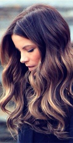 kate beckinsale's frosted chestnut hair color | fall hair color ideas for brown hair