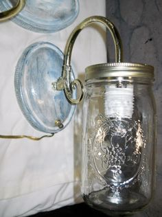 Rustic Cottage Country Lamp Lighting Mason by PerfectlyGoodStuff, $35.00