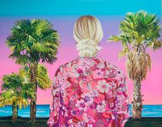 A Burst of Color from Behind - Spanish Paintings by Alejandra Atares Abad - http://www.pondly.com/wp-content/uploads/2015/03/paris-hilton-en-miami-brillantes-de-cristal-purpurina-oleo-y-acriacutelico-sobre-tela-114x145cm-46x60inches-2014_zps44gtwczy.jpg http://wp.me/p1t4Jn-8qG illustration, Painting, spanish painting, spanish paintings