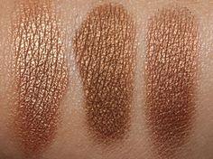MAC woodwinkle, romp and tempting eyeshadows