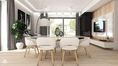 Projekt wnętrz - dom jednorodzinny okolice Poznania - Średni salon z jadalnią, styl nowoczesny - zdjęcie od art-park sp. z o.o.