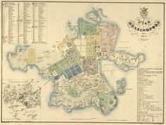 This 1837 map of Helsinki, Finland shows where buildings and structures were at the time, #genealogy cemetery records family history