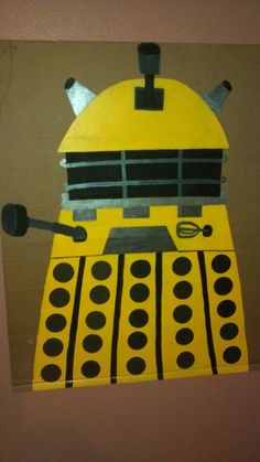 Dalek painting made for my son's Dr. Who Party