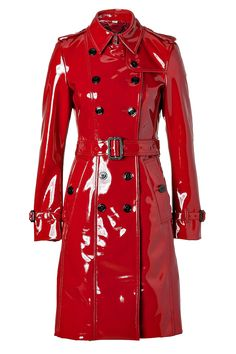 Styling the lacquer red Burberry London Queenscourt Trench Coat - My Fashion Wants