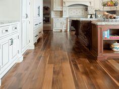 Traditional laminate kitchen floor