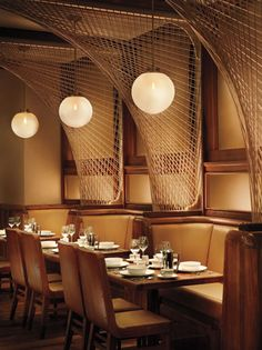 Restaurant at the Royalton Hotel, New York City designed by Philippe Starck