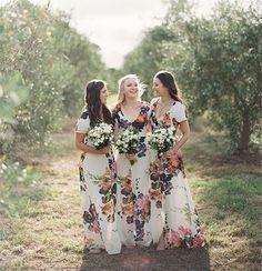 15 gorgeous floral bridesmaid dresses for a romantic wedding.