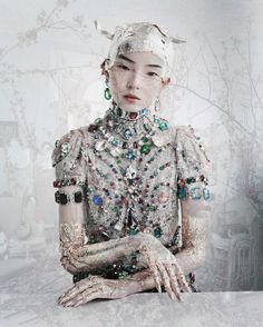 Xiao Wen Ju 'Magical Thinking' by Tim Walker for W March 2012 X The branched setting (again for Magical Thinking)