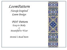 Loom Pattern Navajo Inspired for Seed Beads Delica or TOHO