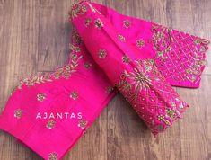 Blouse Back Neck Designs, Hand Work Blouse Design, Blouse Designs Silk, Bridal Blouse Designs, Blouse Patterns, Maggam Work Designs, Rangoli Designs, Hand Designs, Maggam Works
