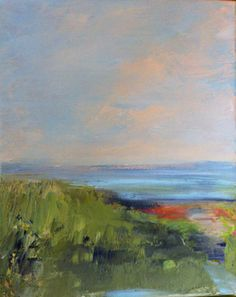 Morningside Peace- Original Oil Painting- 8 x 10 Stretched Canvas, Beach, Marsh, Sand- Hill- Landscape on Etsy, $60.00