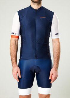 Men Aunord Jersey Navy White Cycling Bib Shorts 7f567f733