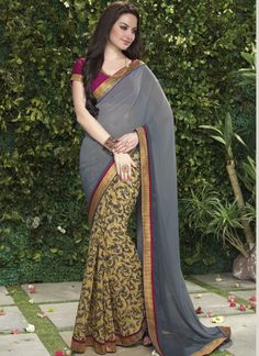 Bulk Georgette Designer Sarees Collection -  Buy Now @ http://www.suratwholesaleshop.com/1110-Fascinating-Brown-Printed-Casual-Wear-Saree?view=catalog  #Onlinesaree #Suratwholesaleshopsaree #Onlinewholesalesaree