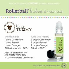 Tiny tummy rollerball recipe
