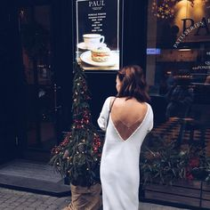 Pure white #knit #dress with open back on the streets of Kyiv! This item is available on Etsy! Link in bio! #streetstyle #fashion #outfit