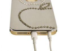 iShield 5 Titan Hülle Doppelter Apfel Silber (W) - Luxus iPhone Zubehör und iPhone Design Accessoires, iPhone Hüllen - iPhone Luxus Swarovsk...