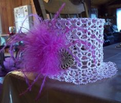 Tatted Top Hat Fascinator by Amalie Berlin. January 25, 2013