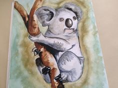 Koala painting by Annelieve Ruyters