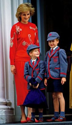 Princess Diana with her boys
