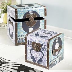 Set of 2 Etta Music Trunks from Midnight Velvet®