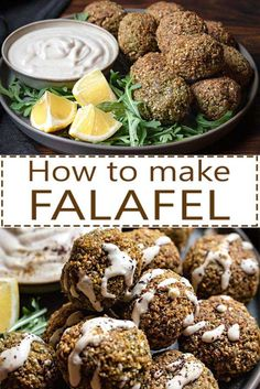 Fried or baked, falafel is made from ground chickpeas and can be a delicious part of your dinner or a filling snack. Read below all the secrets for perfect falafel every time.  #falafel #vegan #glutenfree #chickpeas #tahini #pita #sauce