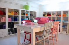spray paint chairs multiple colors - use cute pads