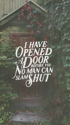 The door to God is held open by grace and faith.