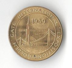 1939 Golden Gate Expo/Treasure Island Medal