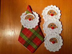 Crochet Santa, Christmas Crochet Patterns, Crochet Home, Knit Crochet, Christmas Deco, Christmas Crafts, Christmas Ornaments, Baby Blanket Crochet, Knitting Stitches