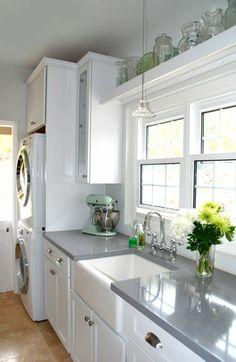 Kraftmaid Cabinets - Maple with Dove White Finish, Huntington door style with Corian Countertop - Bay Side Lane, Hamilton parish.