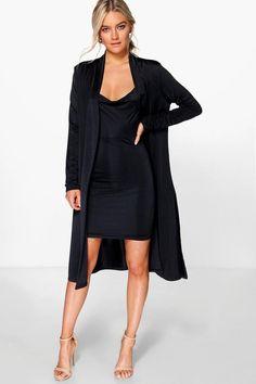 Darla Slinky Cowl Neck Dress & Duster Co-Ord Setalternative image