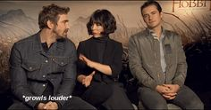 The Hobbit: the Battle of the Five Armies interview - Lee Pace, Evangeline Lilly and Orlando Bloom