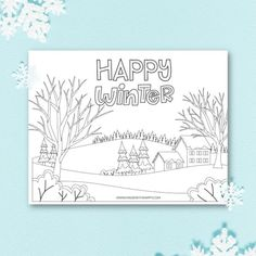 Happy Winter Coloring Pages