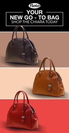 d44ba244298 Chiara Leather Bag is made with soft pebbled leather and finished with  stainless zipper and hardware