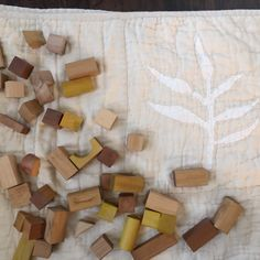 Natural Dyed Wooden Blocks · waldorf by hand Diy Natural Toys, How To Make Tea, Matcha Green Tea, Wooden Blocks, Nature, Wood Blocks, Naturaleza, Nature Illustration, Off Grid