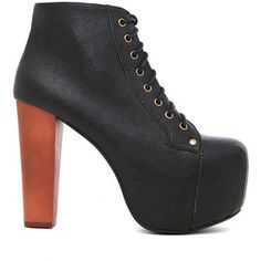 Jeffrey Campbell Lita Platform Lace Up Boot Shoes