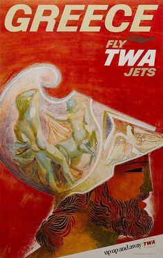 TWA - Greece, David Klein, ca. 1970