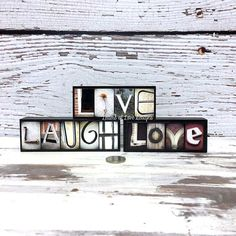 LIVE LAUGH LOVE Wood Signs Photo Letter by LettersOfLoveDesigns