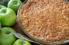 Äppelpaj med knäckigt pajtäcke