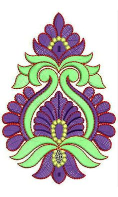 Hand Applique Embroidery Design